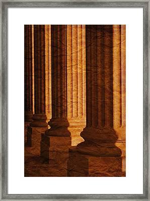 Row Of Large Columns Framed Print