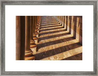 Row Of Pillars Framed Print by Garry Gay