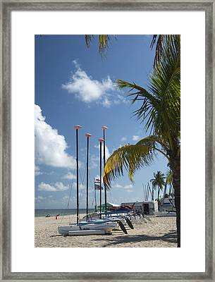Row Of Sailboats Framed Print