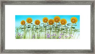 Row Of Sunflowers Framed Print