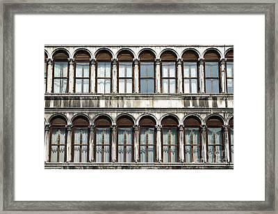Row Of Windows Framed Print