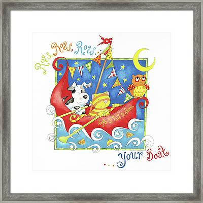 Row Your Boat Framed Print by P.s. Art Studios