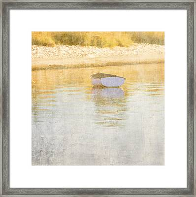 Rowboat In The Summer Sun Framed Print by Carol Leigh