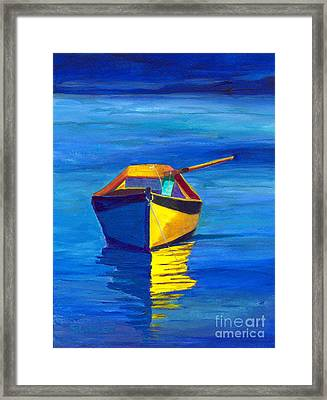 Rowboat Framed Print by Sandy Linden