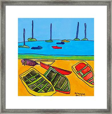 Rowboats Framed Print by Artists With Autism Inc