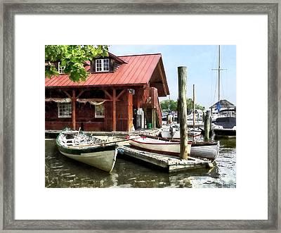 Alexandria Va - Rowboats By Founders Park Framed Print