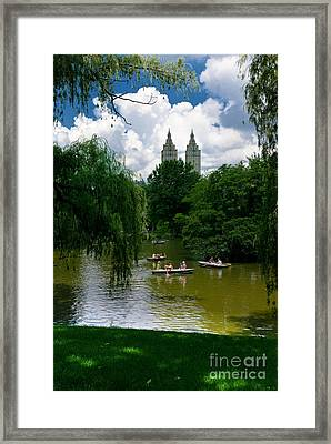 Rowboats Central Park New York Framed Print