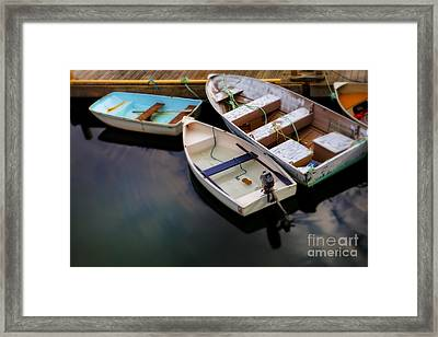 Rowboats Framed Print by Diane Diederich
