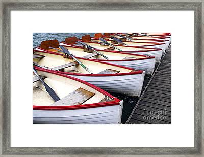 Rowboats Framed Print by Elena Elisseeva