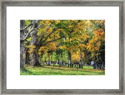 Rowell Cemetery Framed Print by John Nielsen