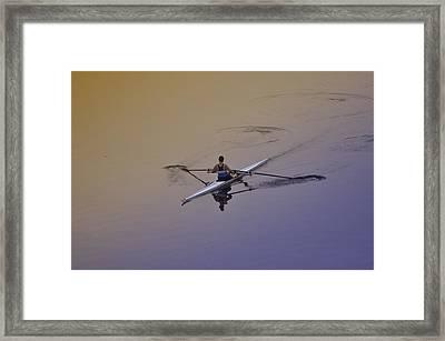 Rower Framed Print