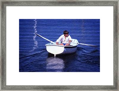 Framed Print featuring the digital art Rower by Richard Farrington
