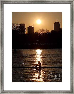 Rower Sunrise Framed Print by Kenny Glotfelty