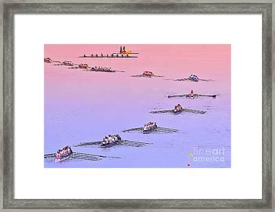 Rowers Arc Framed Print by Gary Holmes