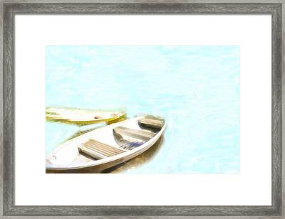 Rowing Boats At The Dock Framed Print