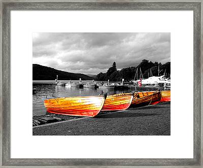 Rowing Boats Ready For Work Framed Print