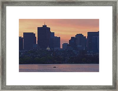 Rowing Boston Framed Print by Juergen Roth