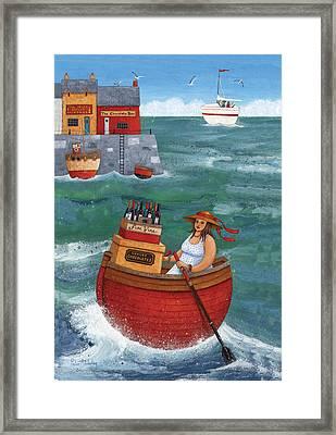 Rowing In Luxury Framed Print