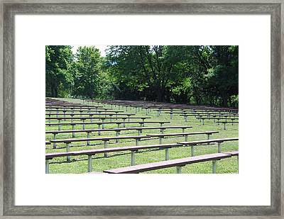 Framed Print featuring the photograph Rows And Rows Of Seats by Ramona Whiteaker