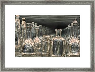 Rows Of Bottles Framed Print by Randi Grace Nilsberg