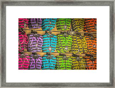 Rows Of Flip-flops Key West - Hdr Style Framed Print by Ian Monk