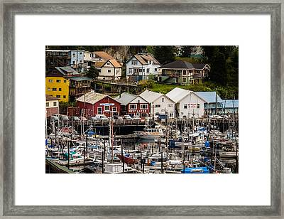 Rows Of Houses And Sails Framed Print by Melinda Ledsome