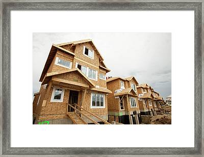 Rows Of New Houses Framed Print