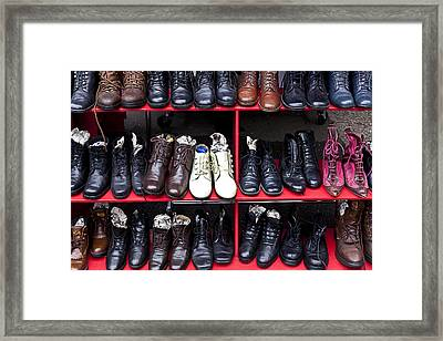 Rows Of Shoes Framed Print by Garry Gay