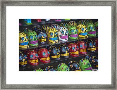 Rows Of Skulls Framed Print