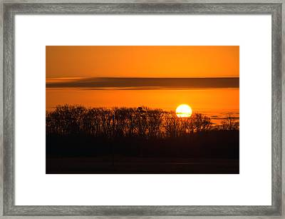 Framed Print featuring the photograph Roxanna Sunrise by Bill Swartwout