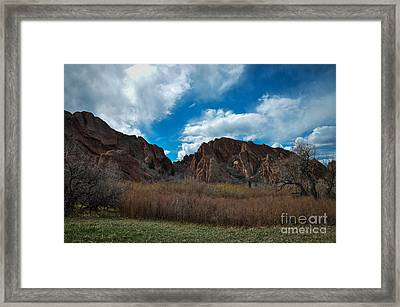 Roxborough Cragginess Framed Print by Cheryl McClure