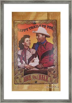 Roy And Dale Framed Print by Donna Brown