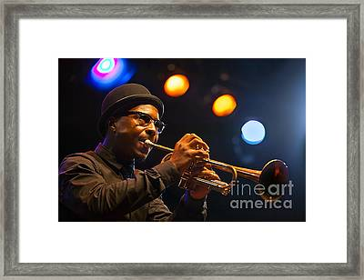 Roy Hargrove With Hat Framed Print
