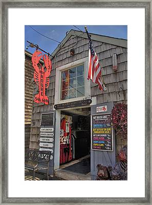 Roy Moore Lobster Company Framed Print