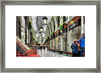 Royal Arcade Framed Print by Pedro Fernandez