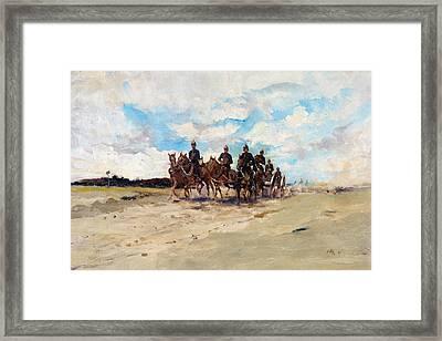 Royal Artillery, A Field Gun Team Framed Print by Edward Matthew Hale