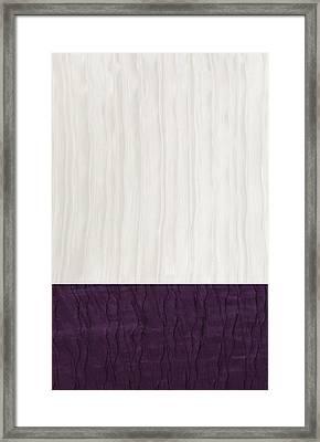 Royal Aubergine - Royal Purple Framed Print by Margaret Ivory