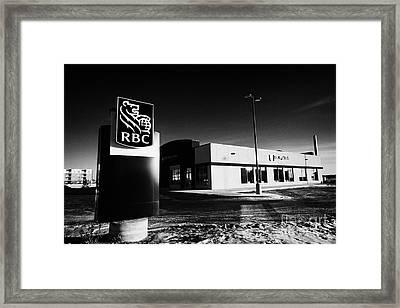 royal bank of canada rbc branch in winter Saskatoon Saskatchewan Canada Framed Print by Joe Fox