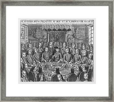 Royal Banquet To Celebrate The Birth Framed Print by Everett
