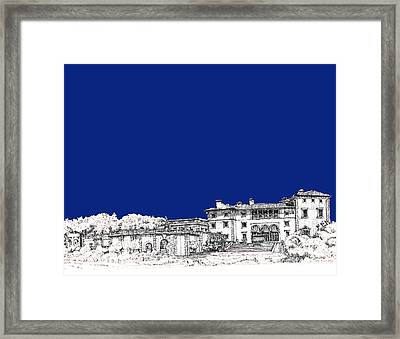 Royal Blue Vizcaya In Miami Framed Print by Building  Art