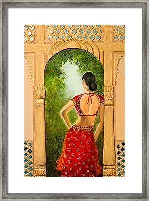 Royal Bride Framed Print by Archana Doddi