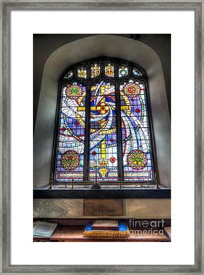 Royal British Legion Window Framed Print by Adrian Evans