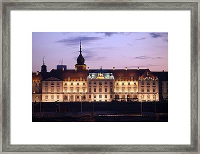 Royal Castle At Twilight In Warsaw Framed Print by Artur Bogacki