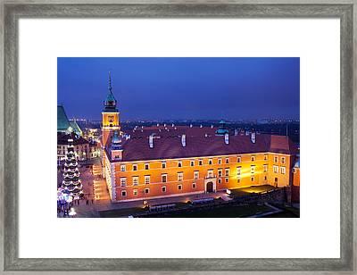 Royal Castle In Warsaw At Night Framed Print by Artur Bogacki