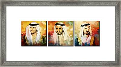 Royal Collage Framed Print by Corporate Art Task Force