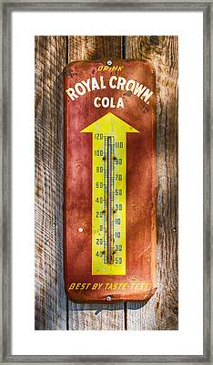 Royal Crown Barn Thermometer Framed Print