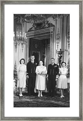 Royal Family Wedding Framed Print by Underwood Archives