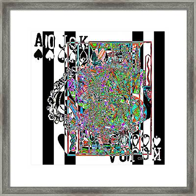 Royal Flush In Abstract 20140301v3 Square Framed Print by Wingsdomain Art and Photography