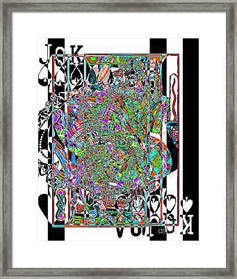 Royal Flush In Abstract 20140301v3 Framed Print by Wingsdomain Art and Photography