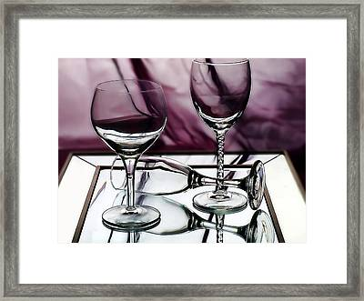 Royal Glass Framed Print by Camille Lopez